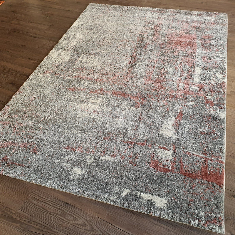 Mayfair 8654 Collection Grey Pink Rugs - The Rugs Outlet