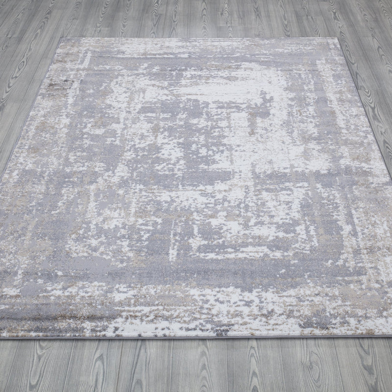 Monaco 1938 Beige & Grey Rug - The Rugs Outlet