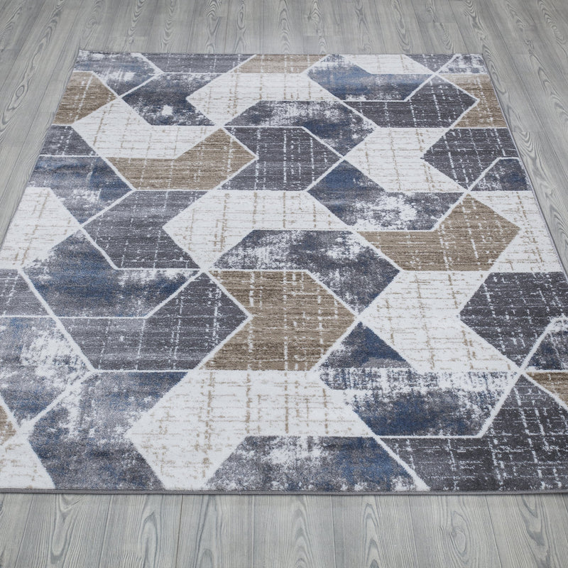 Monaco 1943 Beige & Grey Rug - The Rugs Outlet