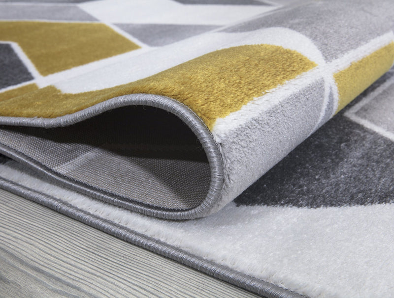 Monaco 1943 Gold & Grey Rug - The Rugs Outlet
