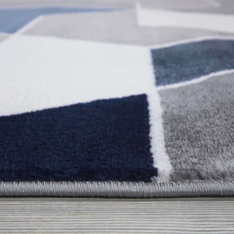 Monaco 1943 Navy Blue & Grey Rug - The Rugs Outlet