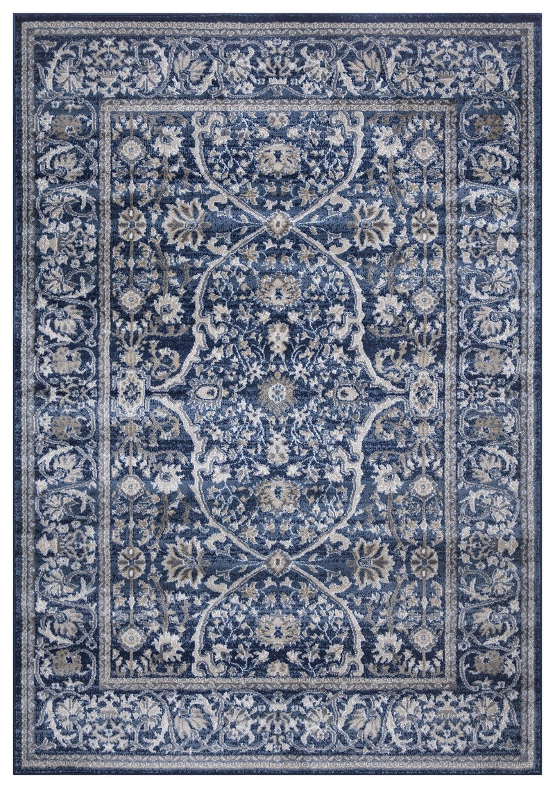 Monaco 1993 Traditional Navy Blue Rug - The Rugs Outlet