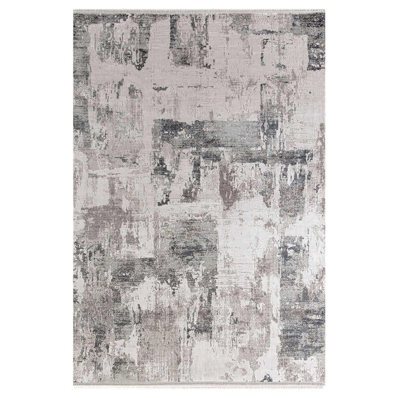 Olimpos 01929 Ivory & Grey Rugs - The Rugs Outlet