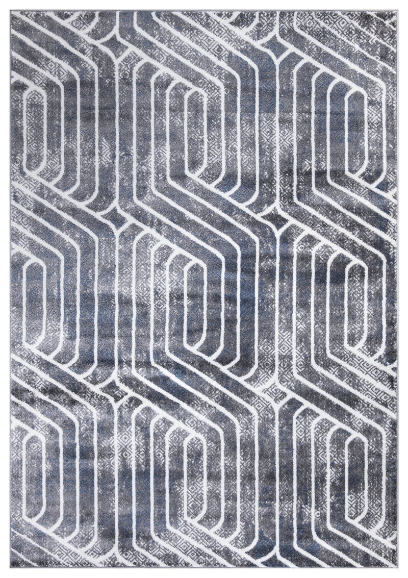 Paris 1939 Grey & Blue Rug - The Rugs Outlet