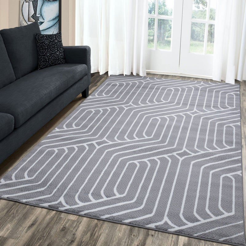 Paris 1939 Grey & Cream Rugs - The Rugs Outlet