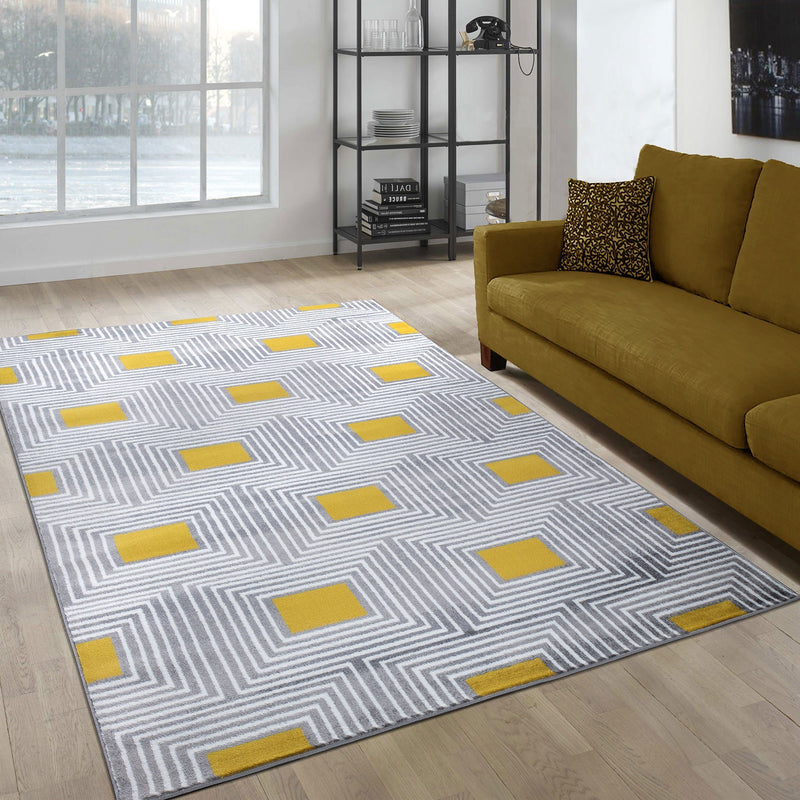 Paris 1940 Gold & Cream Rug - The Rugs Outlet