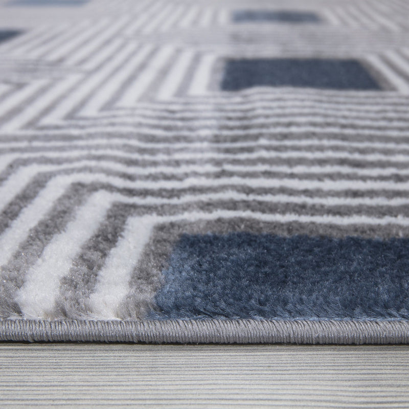 Paris 1940 Grey & Blue Rug - The Rugs Outlet