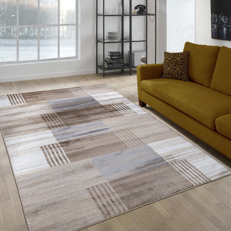 Paris 1948 Cream & Beige Rug - The Rugs Outlet