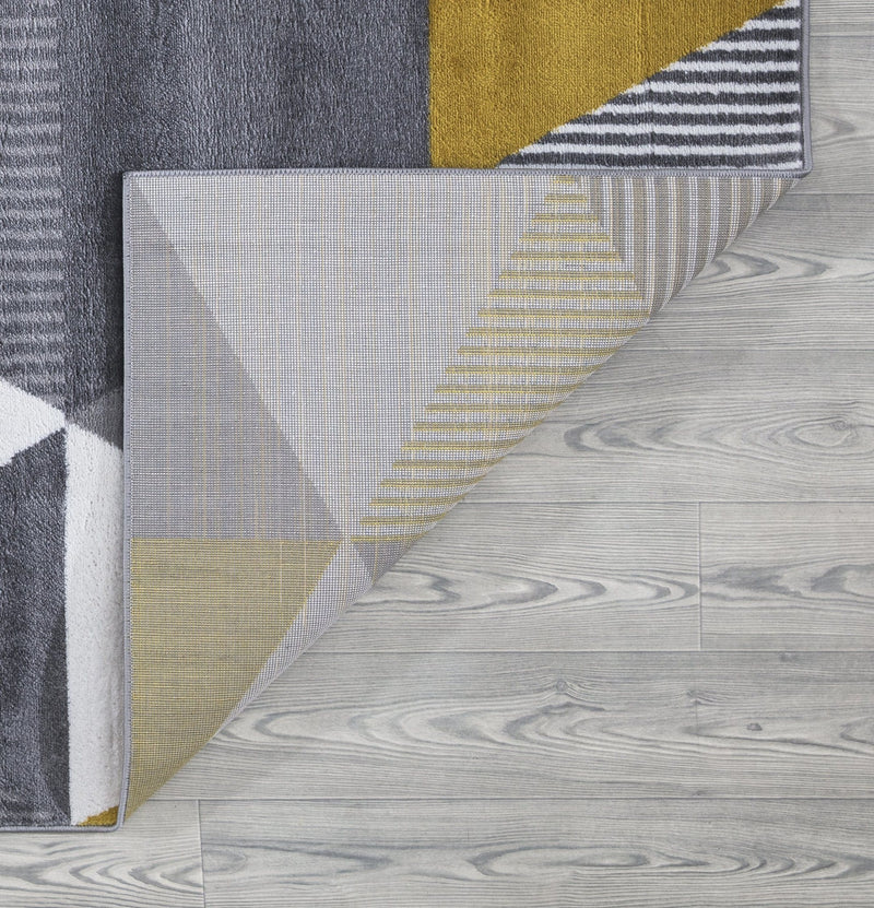 Paris 1950 Gold & Grey Rug - The Rugs Outlet