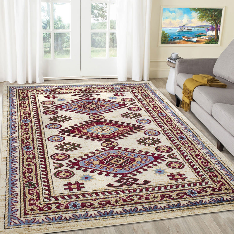 Qashqai 5576 Traditional Cream Rug The Rugs Outlet 80x150cm