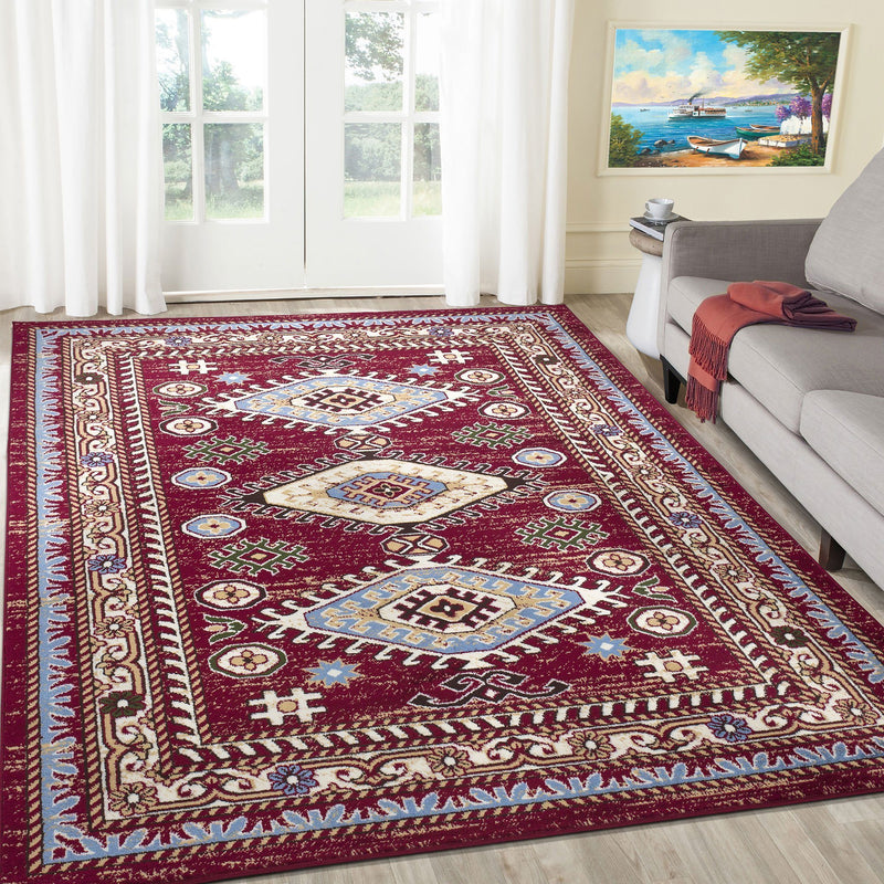 Qashqai 5576 Traditional Red Rug The Rugs Outlet 80x150cm