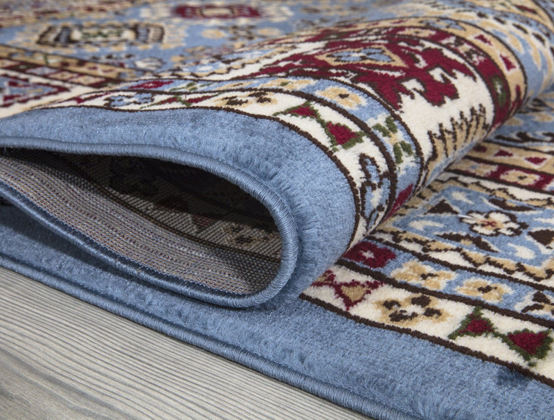 Qashqai 5577 Traditional Blue Rug - The Rugs Outlet