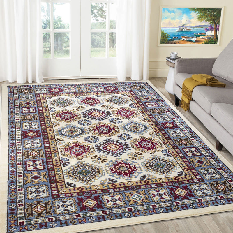 Qashqai 5577 Traditional Cream Rug - The Rugs Outlet