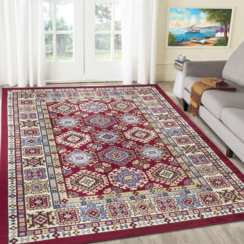 Qashqai 5577 Traditional Red Rug - The Rugs Outlet