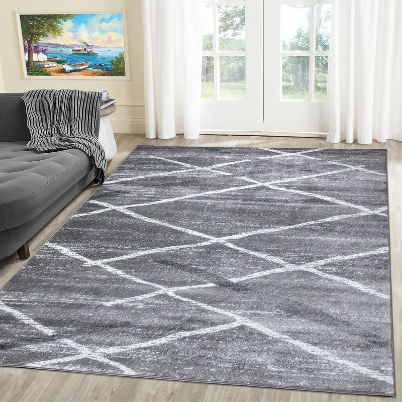 Modern Salvador 9957 Grey Rugs The Rugs Outlet 80x150cm