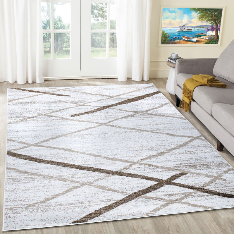 Modern Salvador Cream Beige Rug The Rugs Outlet 80x150cm