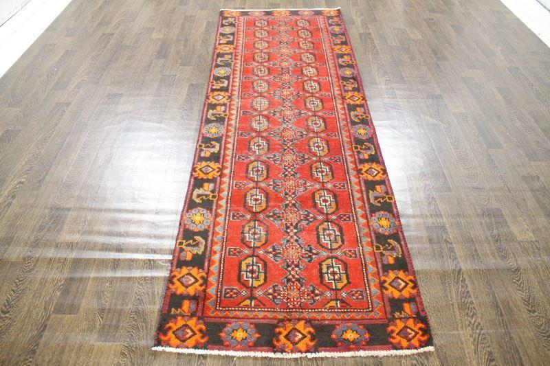 Traditional Vintage Handmade Rug 102x303cm - The Rugs Outlet