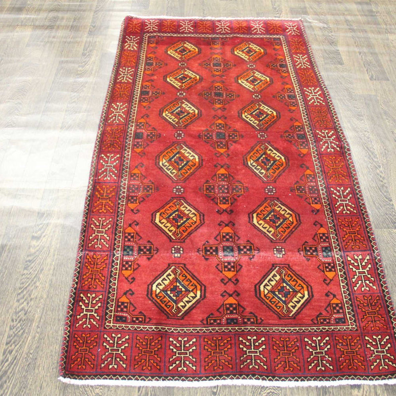 Traditional Vintage Handmade Rug 103x195cm The Rugs Outlet