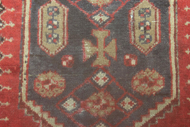 Traditional Vintage Handmade Rug 103x282cm - The Rugs Outlet