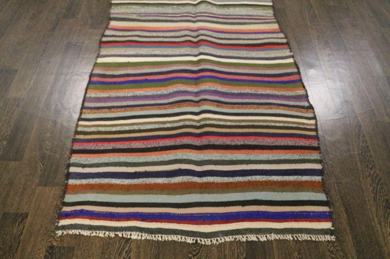 Traditional Vintage Handmade Rug 104x257cm - The Rugs Outlet