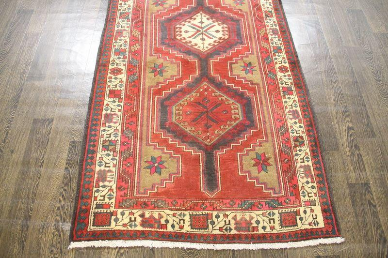 Traditional Vintage Handmade Rug 105x308cm - The Rugs Outlet