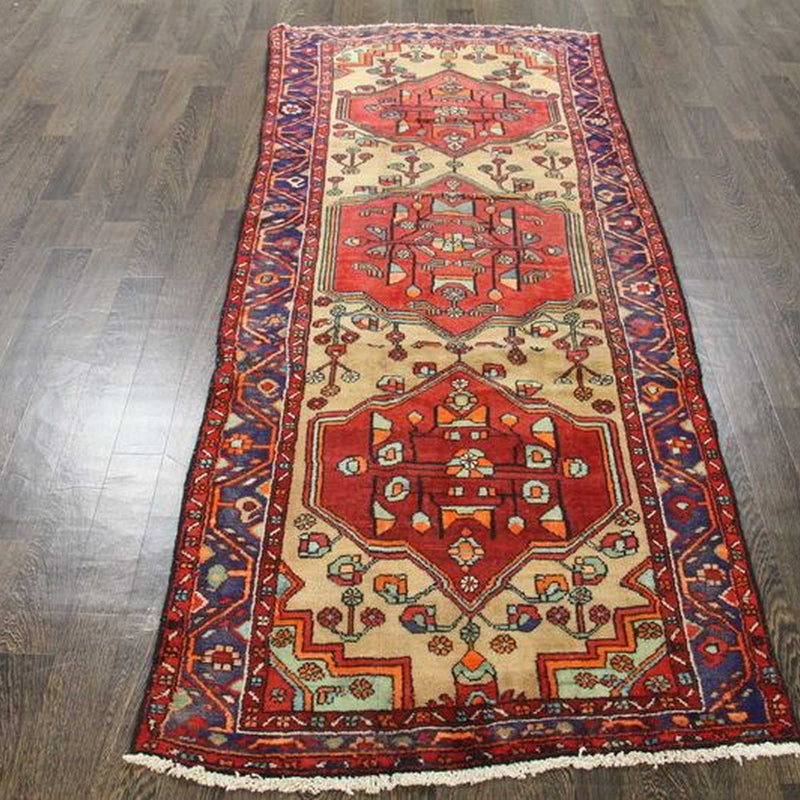 Traditional Vintage Handmade Rug 106x265cm - The Rugs Outlet