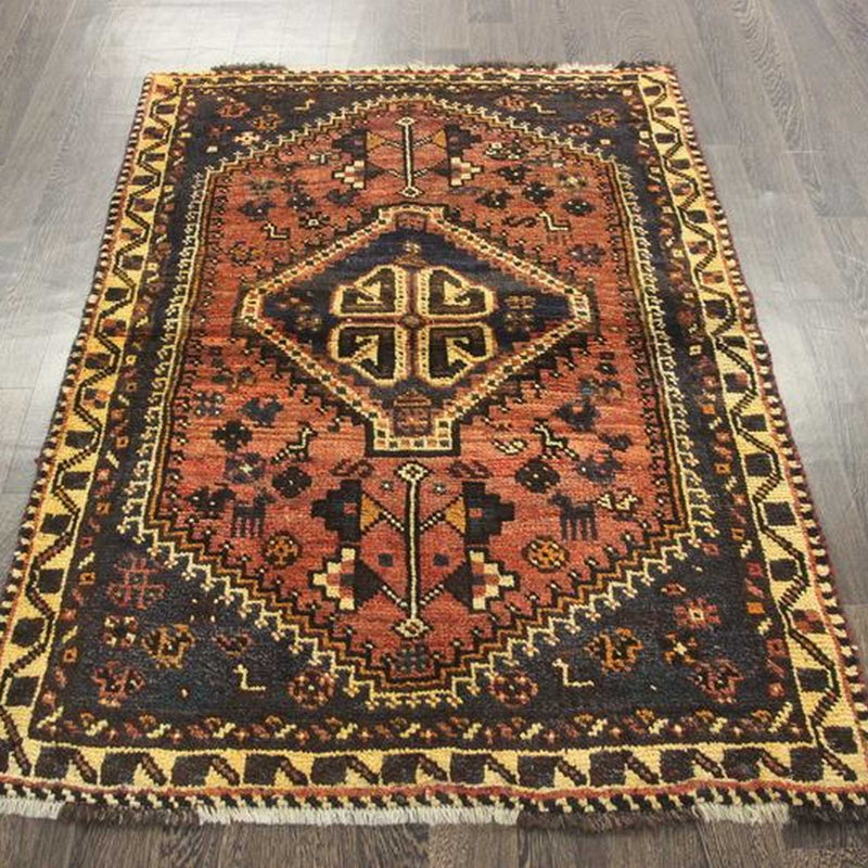 Traditional Vintage Handmade Rug 108x150cm - The Rugs Outlet