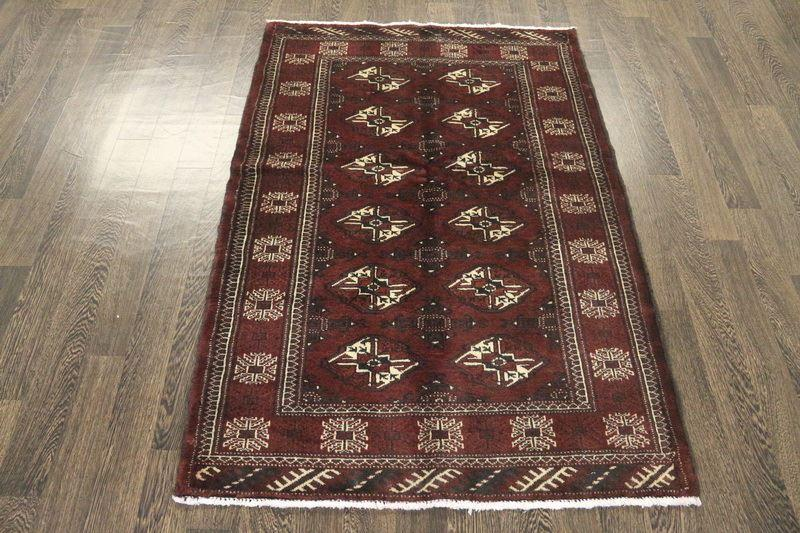 Traditional Vintage Handmade Rug 108x156cm - The Rugs Outlet