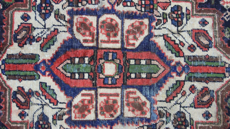 Traditional Vintage Handmade Rug 108x225cm - The Rugs Outlet