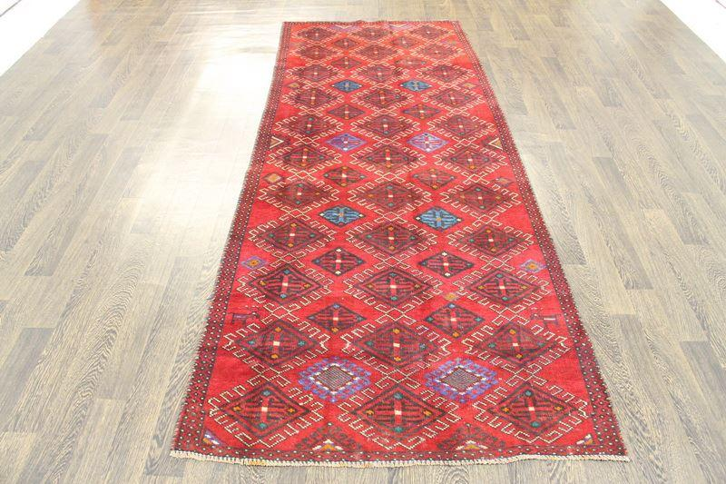 Traditional Vintage Handmade Rug 113x283cm - The Rugs Outlet