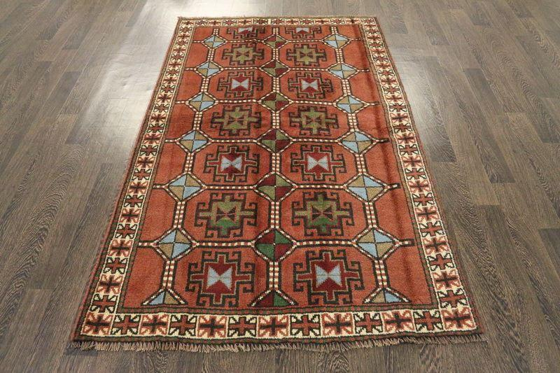 Traditional Vintage Handmade Rug 116x190cm - The Rugs Outlet