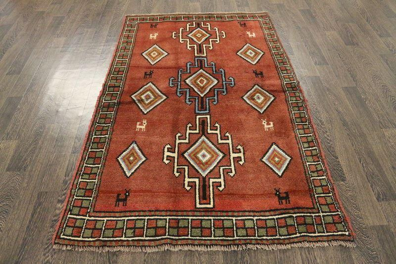 Traditional Vintage Handmade Rug 117x187cm - The Rugs Outlet