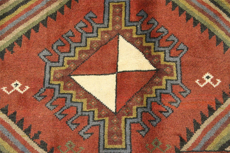 Traditional Vintage Handmade Rug 117x190cm - The Rugs Outlet