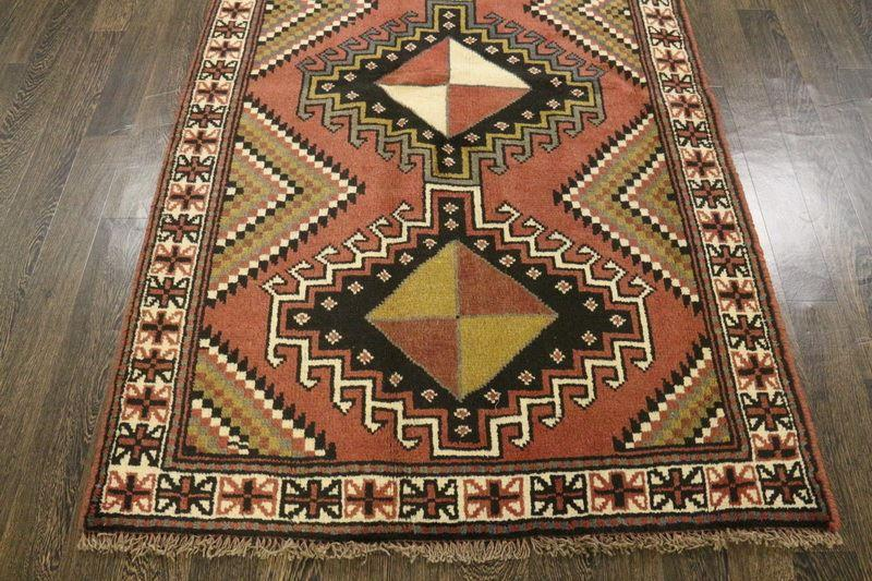 Traditional Vintage Handmade Rug 118x195cm - The Rugs Outlet
