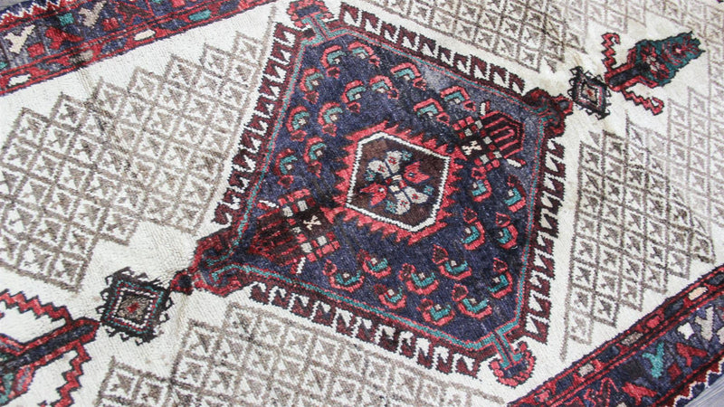 Traditional Vintage Handmade Rug 120x213cm - The Rugs Outlet