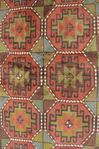 Traditional Vintage Handmade Rug 122x188cm The Rugs Outlet