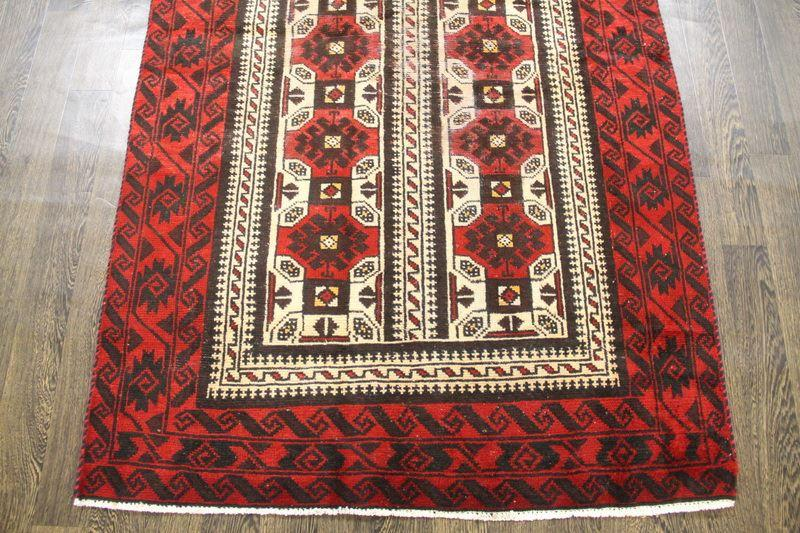 Traditional Vintage Handmade Rug 122x195cm - The Rugs Outlet