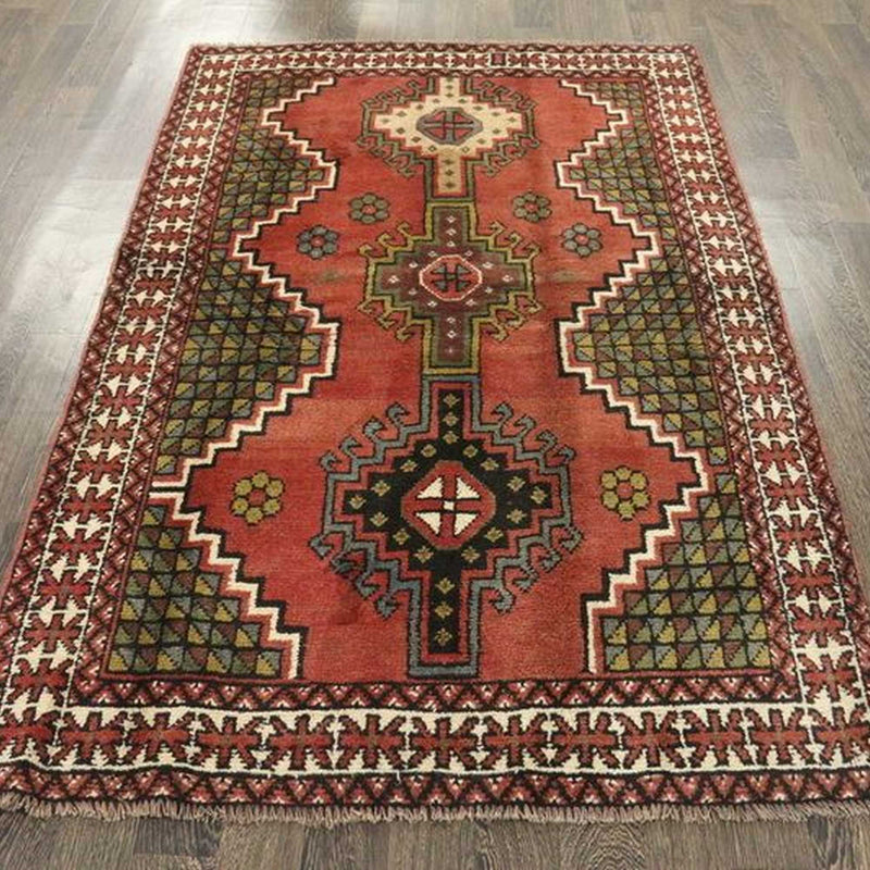 Traditional Vintage Handmade Rug 123x193cm The Rugs Outlet