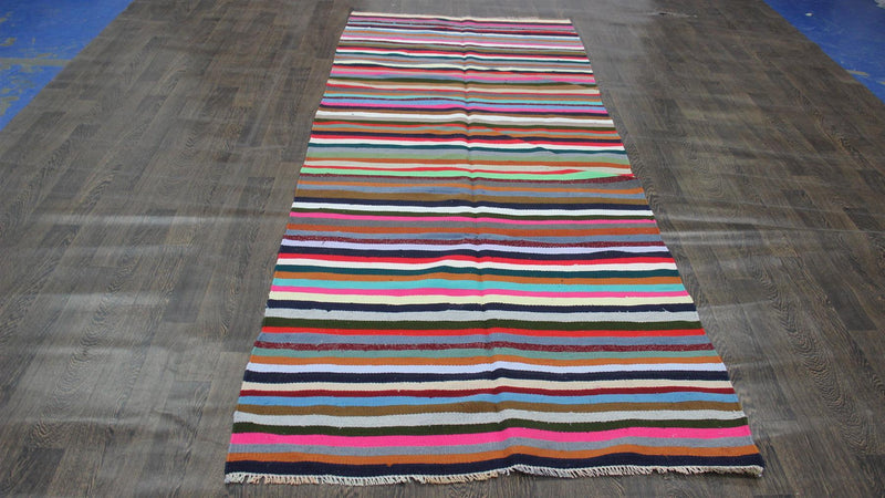 Traditional Vintage Handmade Rug 125x302cm - The Rugs Outlet