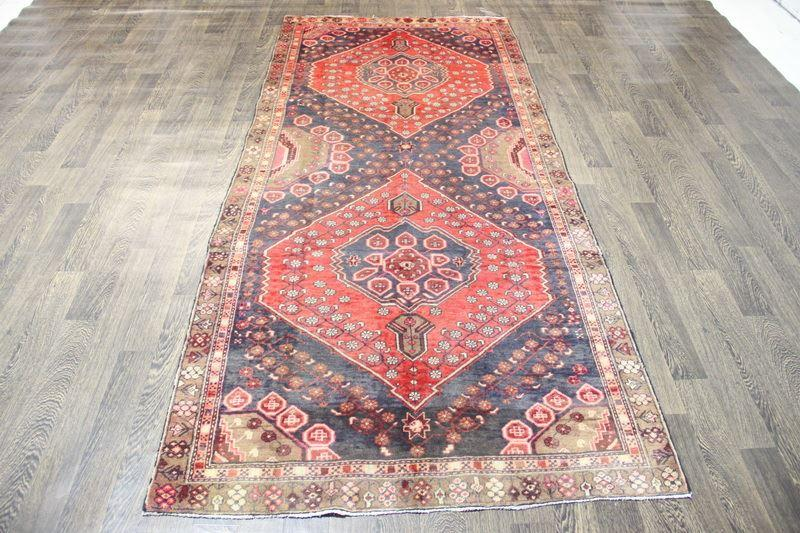 Traditional Vintage Handmade Rug 126x278cm - The Rugs Outlet