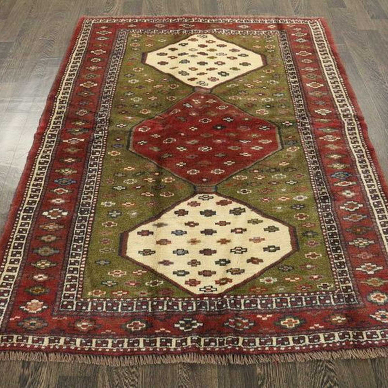 Traditional Vintage Handmade Rug 128x175cm - The Rugs Outlet