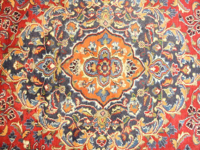 Traditional Vintage Handmade Rug 286x386cm - The Rugs Outlet