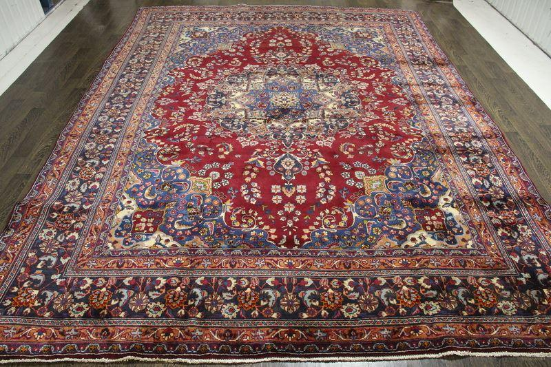 Traditional Vintage Handmade Rug 287x385cm - The Rugs Outlet
