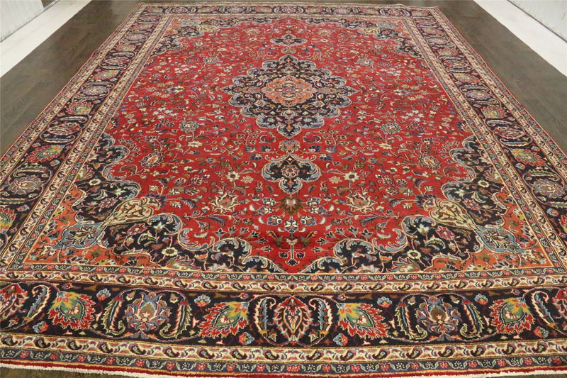 Traditional Vintage Handmade Rug 295x395cm - The Rugs Outlet