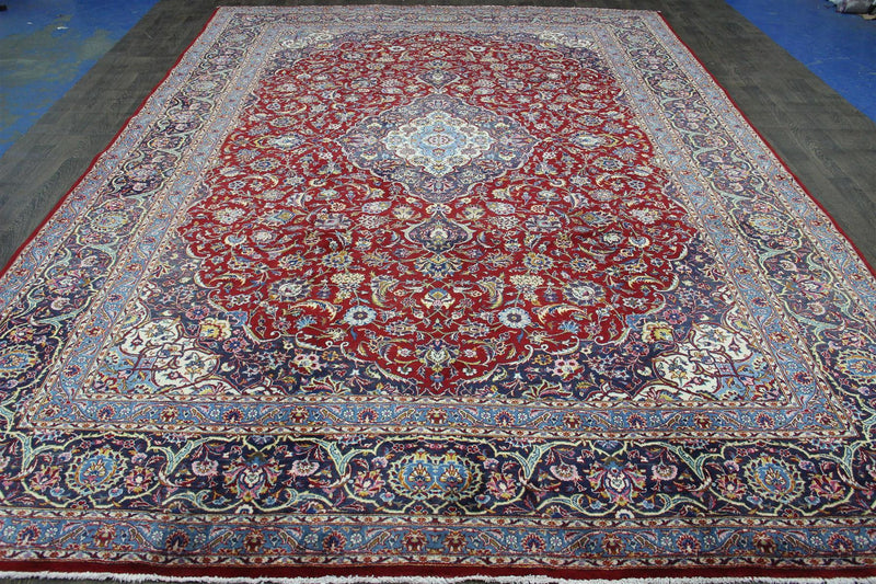 Traditional Vintage Handmade Rug 300x412cm - The Rugs Outlet