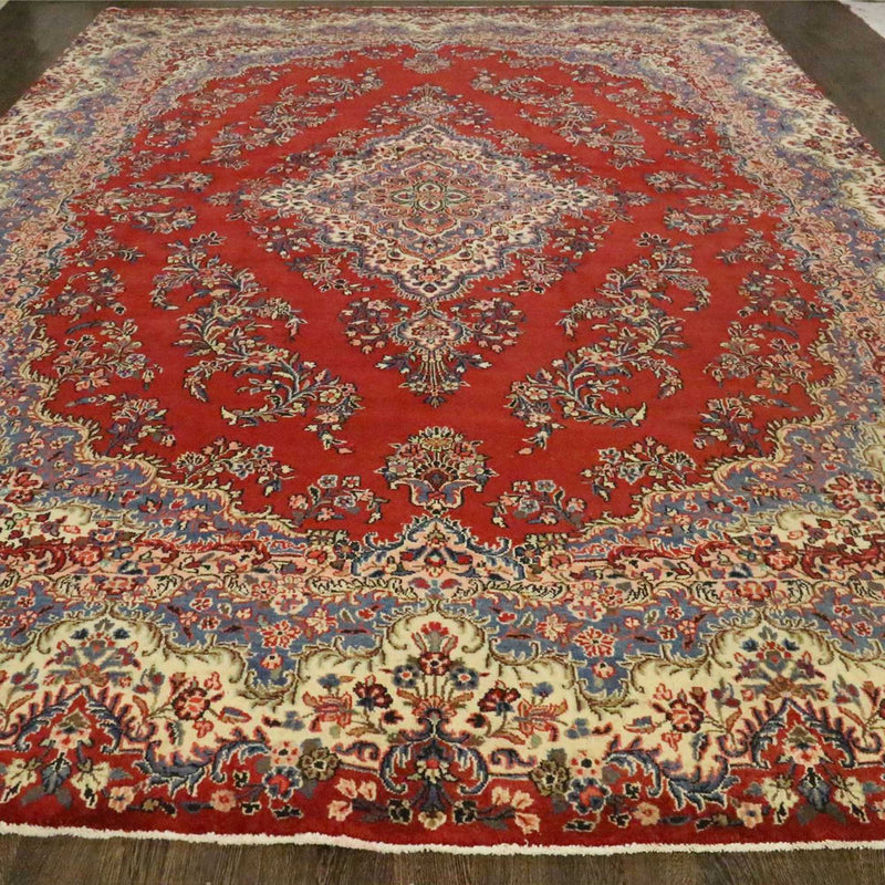 Traditional Vintage Handmade Rug 300x425cm - The Rugs Outlet