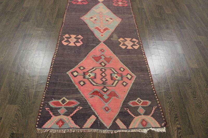 Traditional Vintage Handmade Rug 326x98cm - The Rugs Outlet