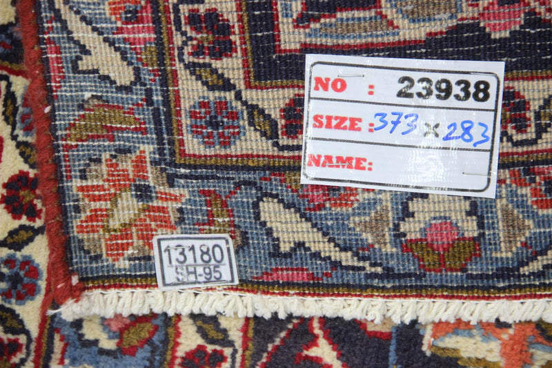 Traditional Vintage Handmade Rug 373x283cm - The Rugs Outlet