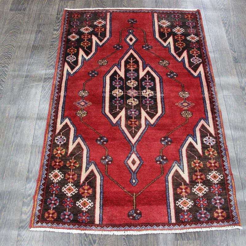 Traditional Vintage Handmade Rug 82x128cm - The Rugs Outlet