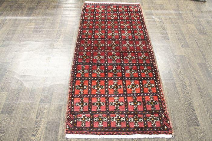 Traditional Vintage Handmade Rug 82x182cm - The Rugs Outlet